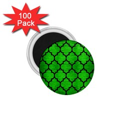 Tile1 Black Marble & Green Brushed Metal (r) 1 75  Magnets (100 Pack)