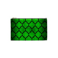 Tile1 Black Marble & Green Brushed Metal (r) Cosmetic Bag (small)