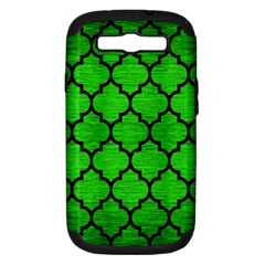 Tile1 Black Marble & Green Brushed Metal (r) Samsung Galaxy S Iii Hardshell Case (pc+silicone)