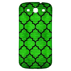 Tile1 Black Marble & Green Brushed Metal (r) Samsung Galaxy S3 S Iii Classic Hardshell Back Case
