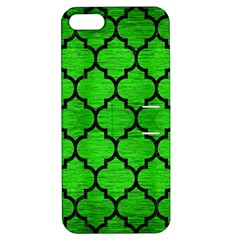 Tile1 Black Marble & Green Brushed Metal (r) Apple Iphone 5 Hardshell Case With Stand