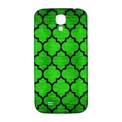 Tile1 Black Marble & Green Brushed Metal (r) Samsung Galaxy S4 I9500/i9505  Hardshell Back Case