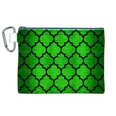 Tile1 Black Marble & Green Brushed Metal (r) Canvas Cosmetic Bag (xl)