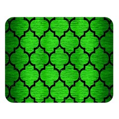 Tile1 Black Marble & Green Brushed Metal (r) Double Sided Flano Blanket (large)