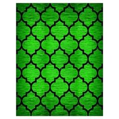 Tile1 Black Marble & Green Brushed Metal (r) Drawstring Bag (large)