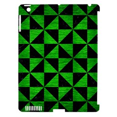 Triangle1 Black Marble & Green Brushed Metal Apple Ipad 3/4 Hardshell Case (compatible With Smart Cover)