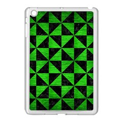 Triangle1 Black Marble & Green Brushed Metal Apple Ipad Mini Case (white)