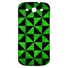 Triangle1 Black Marble & Green Brushed Metal Samsung Galaxy S3 S Iii Classic Hardshell Back Case