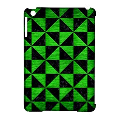 Triangle1 Black Marble & Green Brushed Metal Apple Ipad Mini Hardshell Case (compatible With Smart Cover)