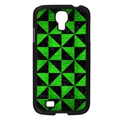 Triangle1 Black Marble & Green Brushed Metal Samsung Galaxy S4 I9500/ I9505 Case (black)