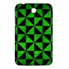 Triangle1 Black Marble & Green Brushed Metal Samsung Galaxy Tab 3 (7 ) P3200 Hardshell Case