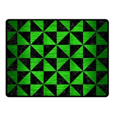 Triangle1 Black Marble & Green Brushed Metal Double Sided Fleece Blanket (small)