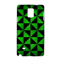 Triangle1 Black Marble & Green Brushed Metal Samsung Galaxy Note 4 Hardshell Case