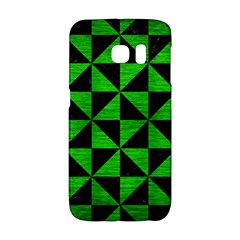 Triangle1 Black Marble & Green Brushed Metal Galaxy S6 Edge