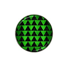 Triangle2 Black Marble & Green Brushed Metal Hat Clip Ball Marker (4 Pack)