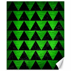 Triangle2 Black Marble & Green Brushed Metal Canvas 8  X 10