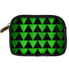 Triangle2 Black Marble & Green Brushed Metal Digital Camera Cases