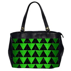 Triangle2 Black Marble & Green Brushed Metal Office Handbags (2 Sides)