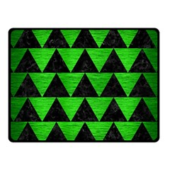 Triangle2 Black Marble & Green Brushed Metal Fleece Blanket (small)