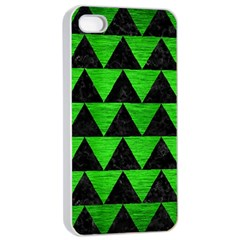 Triangle2 Black Marble & Green Brushed Metal Apple Iphone 4/4s Seamless Case (white)