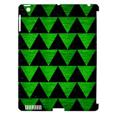 Triangle2 Black Marble & Green Brushed Metal Apple Ipad 3/4 Hardshell Case (compatible With Smart Cover)