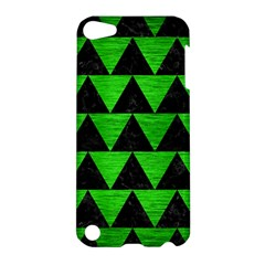 Triangle2 Black Marble & Green Brushed Metal Apple Ipod Touch 5 Hardshell Case