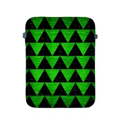 Triangle2 Black Marble & Green Brushed Metal Apple Ipad 2/3/4 Protective Soft Cases