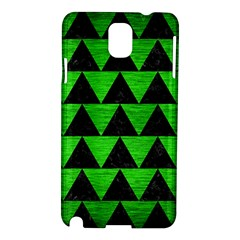 Triangle2 Black Marble & Green Brushed Metal Samsung Galaxy Note 3 N9005 Hardshell Case
