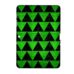 Triangle2 Black Marble & Green Brushed Metal Samsung Galaxy Tab 2 (10 1 ) P5100 Hardshell Case