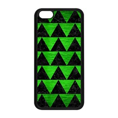 Triangle2 Black Marble & Green Brushed Metal Apple Iphone 5c Seamless Case (black)