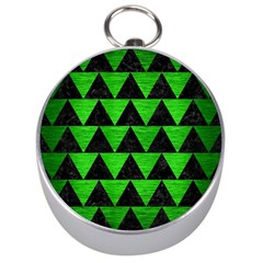 Triangle2 Black Marble & Green Brushed Metal Silver Compasses