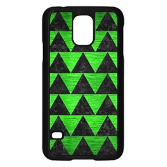 Triangle2 Black Marble & Green Brushed Metal Samsung Galaxy S5 Case (black)