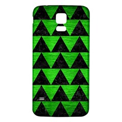 Triangle2 Black Marble & Green Brushed Metal Samsung Galaxy S5 Back Case (white)