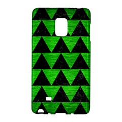 Triangle2 Black Marble & Green Brushed Metal Galaxy Note Edge