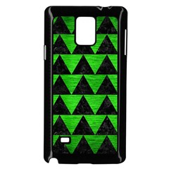 Triangle2 Black Marble & Green Brushed Metal Samsung Galaxy Note 4 Case (black)