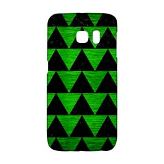 Triangle2 Black Marble & Green Brushed Metal Galaxy S6 Edge