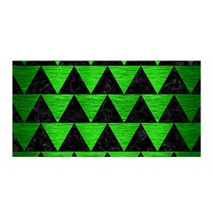 Triangle2 Black Marble & Green Brushed Metal Satin Wrap