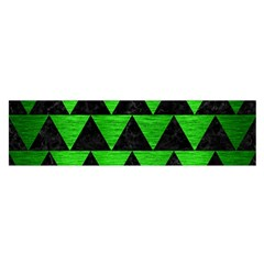 Triangle2 Black Marble & Green Brushed Metal Satin Scarf (oblong)