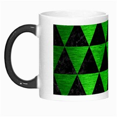 Triangle3 Black Marble & Green Brushed Metal Morph Mugs