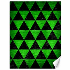 Triangle3 Black Marble & Green Brushed Metal Canvas 36  X 48