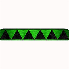 Triangle3 Black Marble & Green Brushed Metal Small Bar Mats