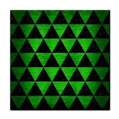 Triangle3 Black Marble & Green Brushed Metal Face Towel
