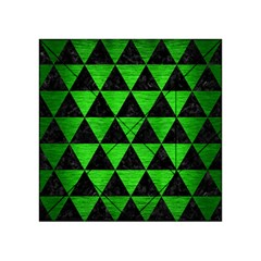 Triangle3 Black Marble & Green Brushed Metal Acrylic Tangram Puzzle (4  X 4 )