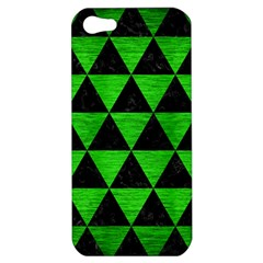 Triangle3 Black Marble & Green Brushed Metal Apple Iphone 5 Hardshell Case