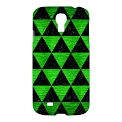 Triangle3 Black Marble & Green Brushed Metal Samsung Galaxy S4 I9500/i9505 Hardshell Case