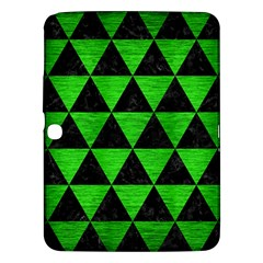 Triangle3 Black Marble & Green Brushed Metal Samsung Galaxy Tab 3 (10 1 ) P5200 Hardshell Case