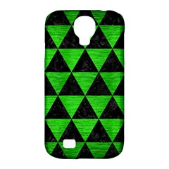 Triangle3 Black Marble & Green Brushed Metal Samsung Galaxy S4 Classic Hardshell Case (pc+silicone)