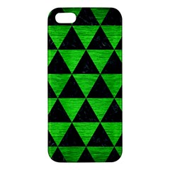 Triangle3 Black Marble & Green Brushed Metal Iphone 5s/ Se Premium Hardshell Case