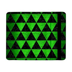 Triangle3 Black Marble & Green Brushed Metal Samsung Galaxy Tab Pro 8 4  Flip Case