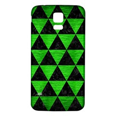 Triangle3 Black Marble & Green Brushed Metal Samsung Galaxy S5 Back Case (white)
